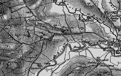 Old map of Wreighill Pike in 1897