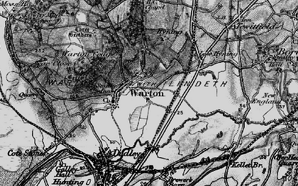 Old map of Warton in 1898