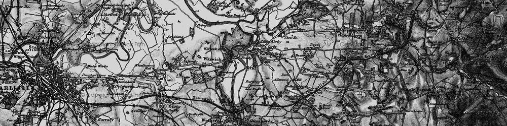 Old map of Warwick Bridge in 1897