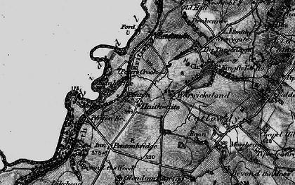 Old map of Liddel Water in 1897