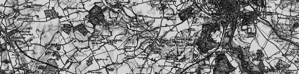 Old map of Amor Hall in 1896