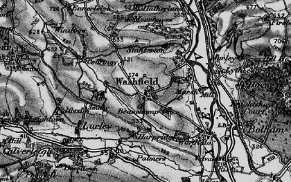 Old map of Washfield in 1898