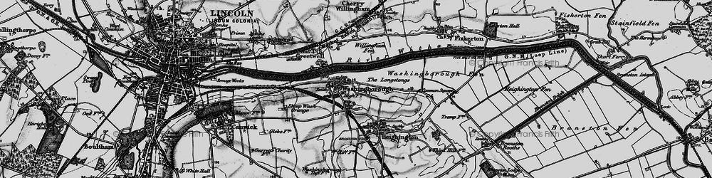 Old map of Willingham Fen in 1899