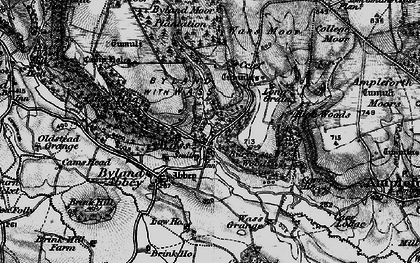 Old map of Tom Smith's Cross in 1898