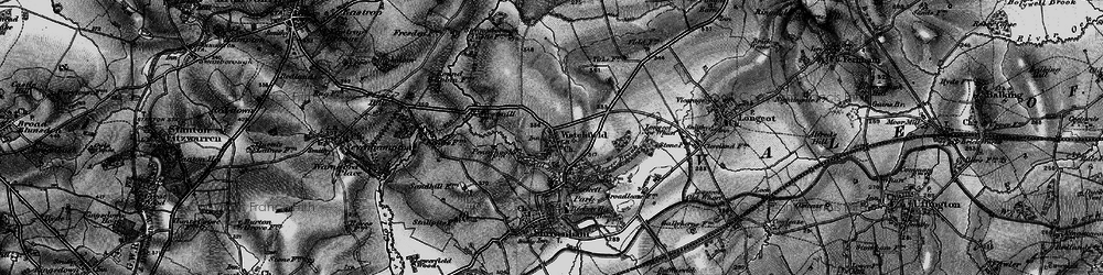 Old map of Watchfield in 1896