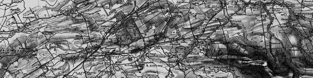 Old map of Aldersceugh in 1897
