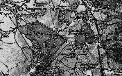 Old map of Water End in 1896