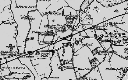 Old map of Woodlands in 1898