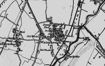 Old map of Waterbeach in 1898
