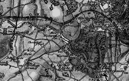Old map of Ayot Greenway in 1896