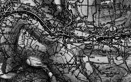 Old map of Waterfoot in 1896