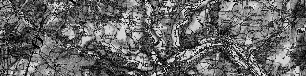 Old map of Waterford in 1896