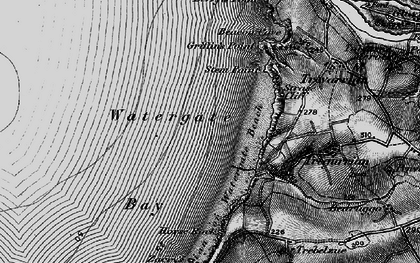Old map of Watergate Bay in 1895
