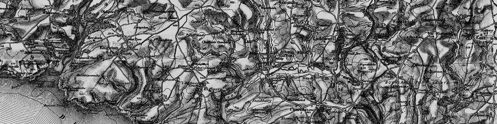 Old map of Ashford in 1897