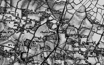 Old map of Toft Monks Ho in 1898