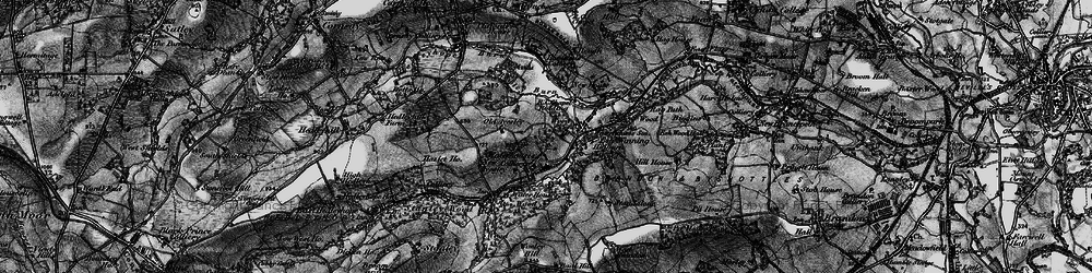 Old map of Wooley Hill in 1898
