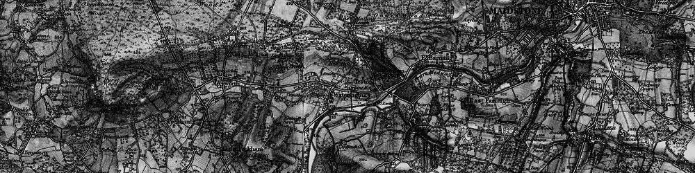 Old map of Wateringbury in 1895