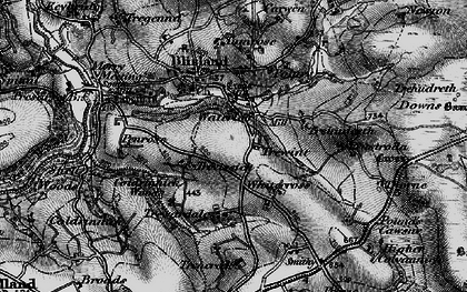 Old map of Whitecross in 1895