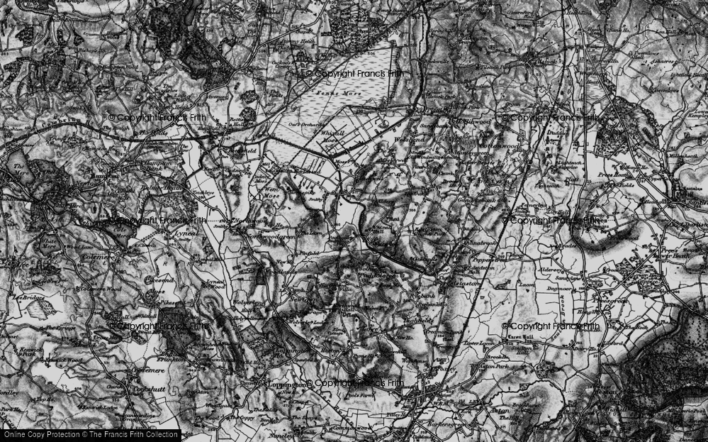 Old Map of Historic Map covering Lawn, The in 1897