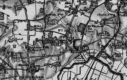 Old map of Alder Carrs in 1898