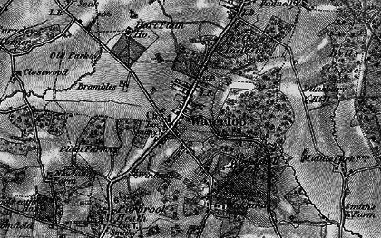 Old map of Waterlooville in 1895