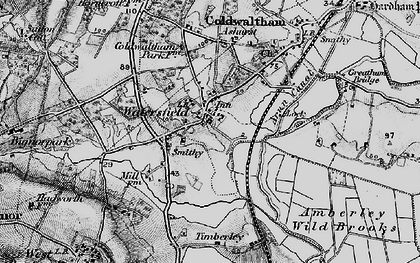 Old map of Ashurst in 1895
