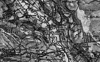 Old map of Yeadon Crag in 1897