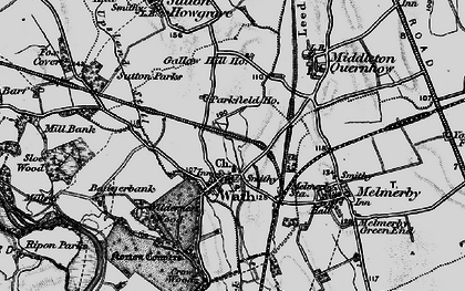 Old map of Wilderness Wood in 1898