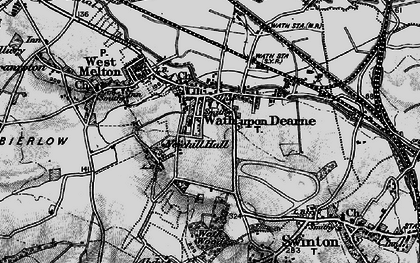 Old map of Wath Upon Dearne in 1896