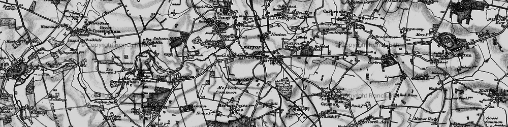 Old map of Watton in 1898