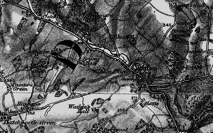 Old map of Watton at Stone in 1896