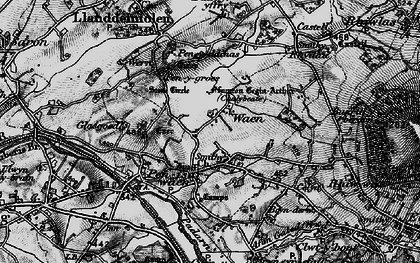 Old map of Bach yr Hilfry in 1899