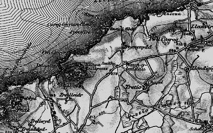 Old map of Aberdinas in 1898
