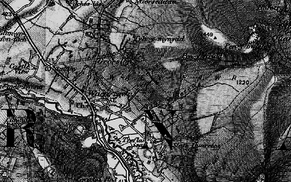 Old map of Waunfawr in 1899