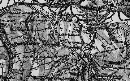 Old map of Aberlleinau in 1898
