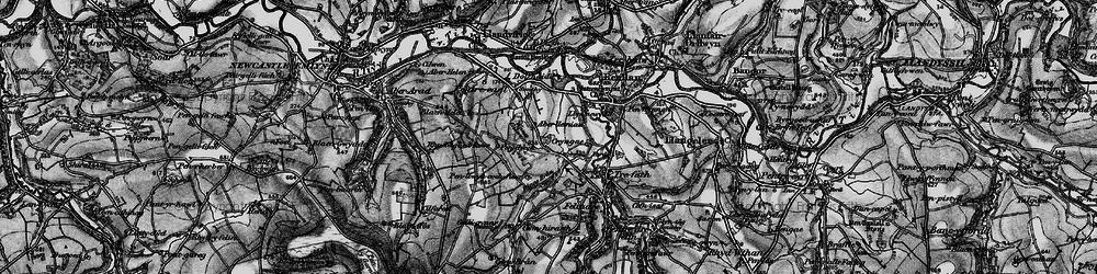 Old map of Aberlleinau in 1898