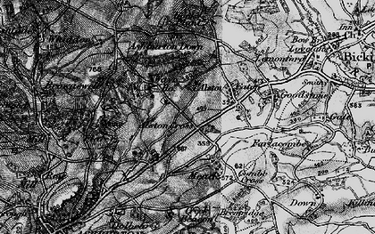 Old map of Ashburton Down in 1898