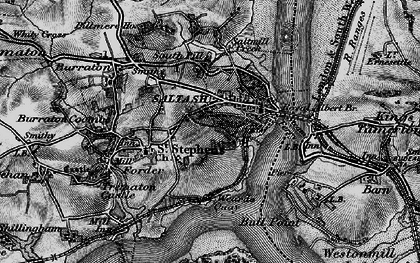 Old map of Wearde in 1896