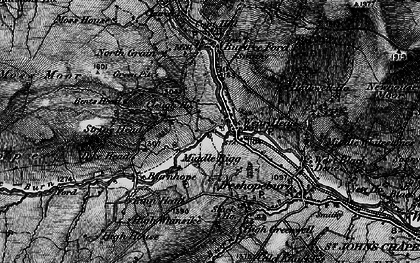 Old map of Wearhead in 1897