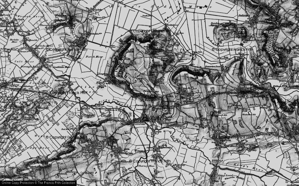 Old Map of Wearne, 1898 in 1898