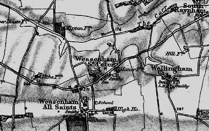Old map of Weasenham St Peter in 1898