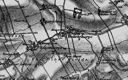Old map of Weaverthorpe in 1898