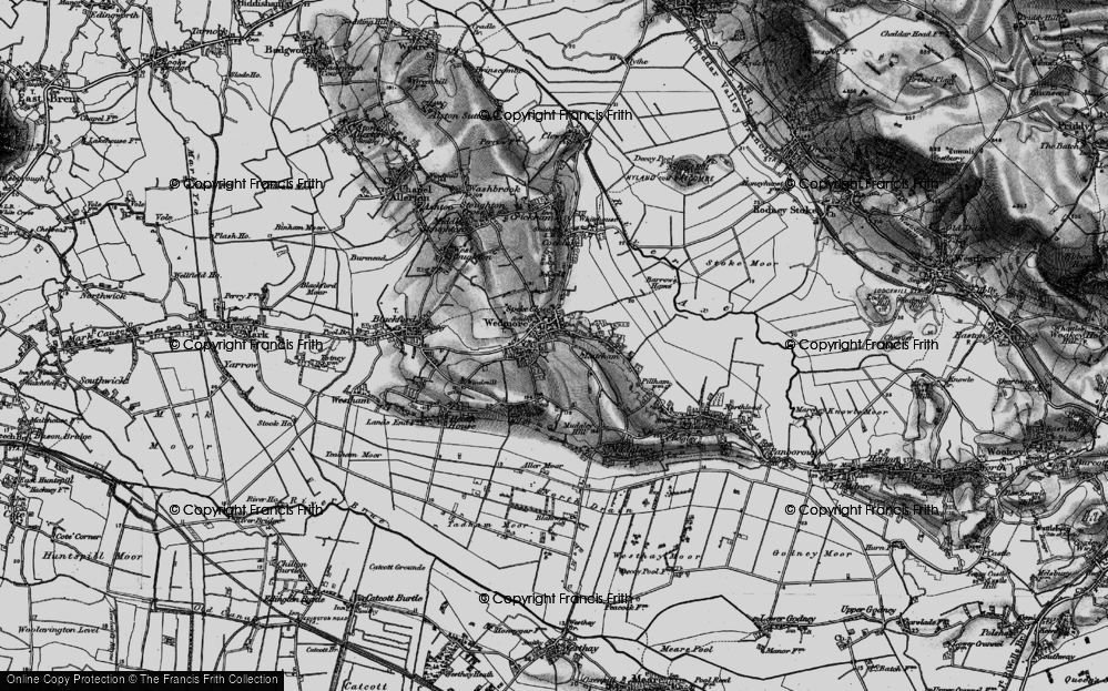 Old Map of Historic Map covering Lascot Hill in 1898