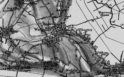 Old map of Lascot Hill in 1898