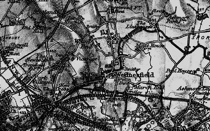 Old map of Wednesfield in 1899