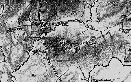 Old map of Weedon in 1896