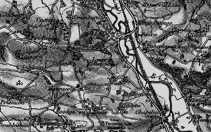 Old map of Yelland in 1898