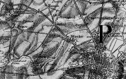 Old map of Weeke in 1895