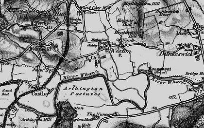 Old map of Arthington Pastures in 1898
