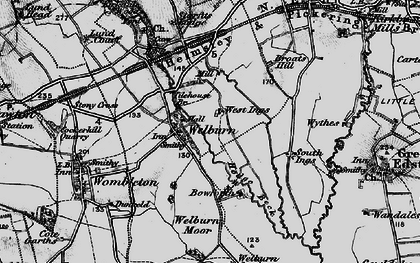 Old map of Tilehouse Br in 1898